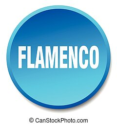 flamenco blue round flat isolated push button