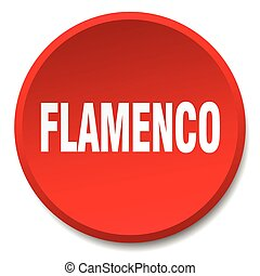 flamenco red round flat isolated push button