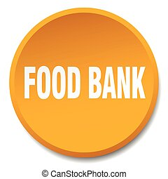 food bank orange round flat isolated push button