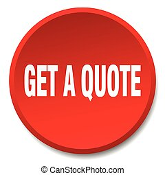 get a quote red round flat isolated push button