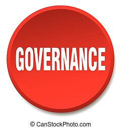 governance red round flat isolated push button
