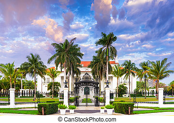 The Flagler Museum - WEST PALM BEACH, FLORIDA - APRIL 4,...