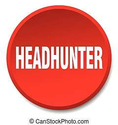 headhunter red round flat isolated push button
