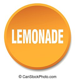 lemonade orange round flat isolated push button