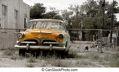 Rustic car - Abandoned rustic car in desaturated color tones