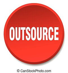 outsource red round flat isolated push button