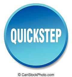 quickstep blue round flat isolated push button