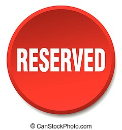 reserved red round flat isolated push button