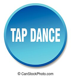 tap dance blue round flat isolated push button