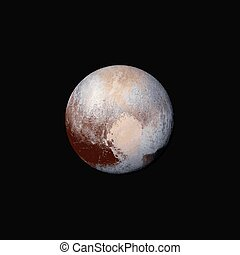 vector realistic planet Pluto illustration - vector colorful...
