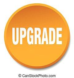 upgrade orange round flat isolated push button