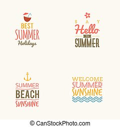 Summer Vacation label - Abstract summer vacation label on a...
