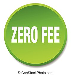 zero fee green round flat isolated push button