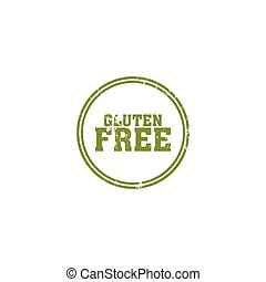 Gluten Free label - abstract gluten free label on a white...