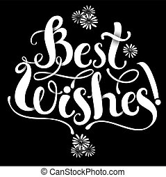 Lettering composition Best WIshes - Positive Lettering...