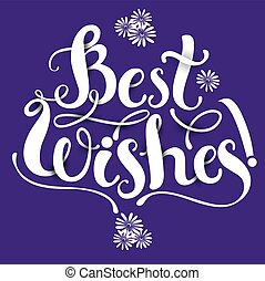 Lettering composition Best WIshes