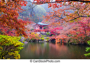 Kyoto Temple in Autumn - Kyoto, Japan at Daigo-ji Temple in...