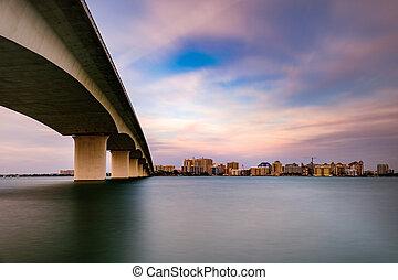 Sarasota Florida USA - Sarasota, Florida, USA town cityscape...
