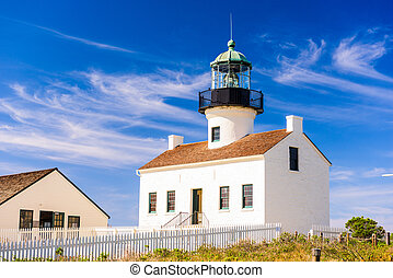 Point Loma Lighthouse - San Diego, California at the Old...