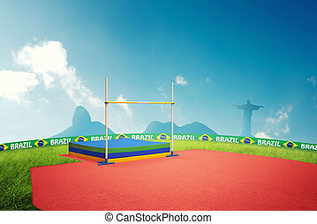 High jump in brazil for the summer games