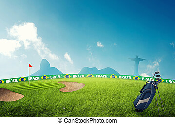 Golf field in brazil for the summer games