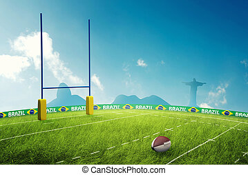 Rugby field in brazil for the summer games