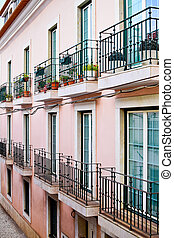 House in Alfama district in Lisbon, Portugal