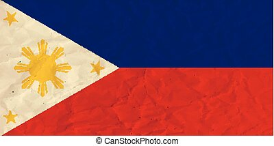 Philippines paper flag - Vector image of the Philippines...