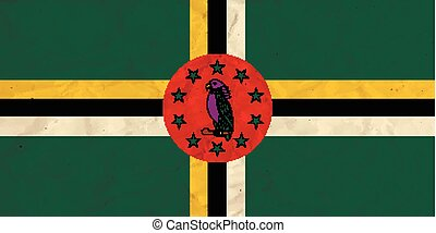 Dominica paper flag - Vector image of the Dominica paper...
