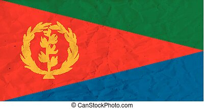 Eritrea paper flag - Vector image of the Eritrea  paper flag