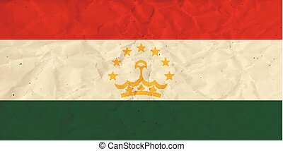 Tajikistan paper flag - Vector image of the Tajikistan paper...