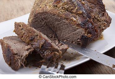 Roast beef  .