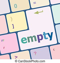 empty button on computer pc keyboard key vector illustration