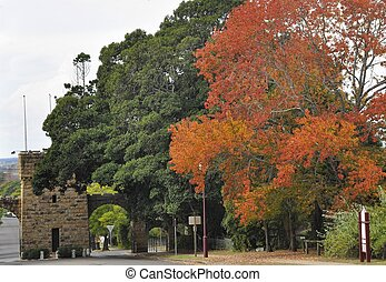 Nowra Showgrounds - Stone gate by the Showground in Nowra,...