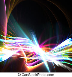 Rainbow Swoosh Layout - A glowing rainbow colored fractal...