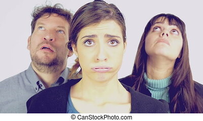 Stressed out people isolated - Concept of stressed out...