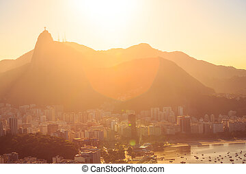 Rio abstract evening view - abstract evening view of Rio...