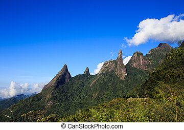 national park Serra dos Orgaos Brazil - famous peaks of...