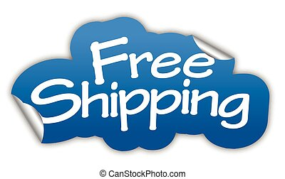 blue vector sticker free shipping