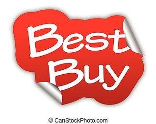 red vector sticker best buy