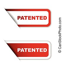red set vector paper stickers patented - This is red set...