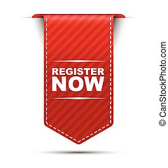 red vector banner design register now - This is red vector...