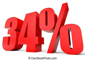 Clipart of Discount 34 percent off. 3D illustration. - Discount 34 ...