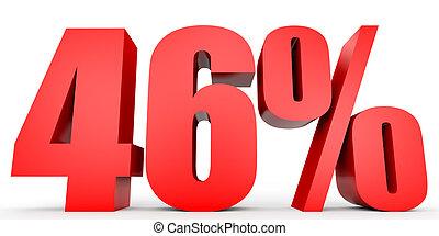 Discount 46 percent off. 3D illustration. - Discount 46...