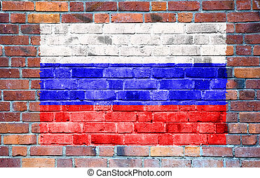 Russian flag with ripples