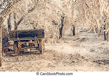 Trailer for the Winter Morning on a Frozen Road