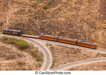 Train Ride In South America - Alausi, Ecuador - 08 December...