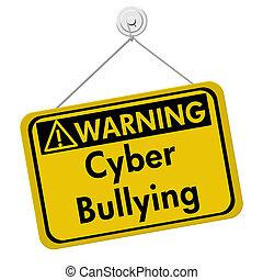intimidar, advertencia,  Cyber, señal