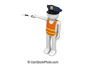 Workers collection - Traffic controller - 3d characters...