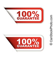 red set vector paper stickers 100% guarantee